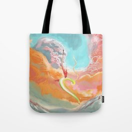 Fantasy Dragon and Clouds Tote Bag