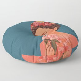 moi, Frida! Floor Pillow