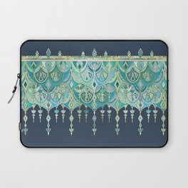 Art Deco Double Drop in Blues and Greens Laptop Sleeve