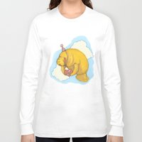 manatee Long Sleeve T-shirts featuring Sky Manatee by Marlee Jennings