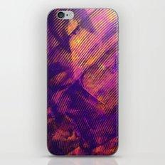 Purple and Orange Stripes iPhone Skin