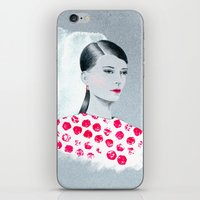sandra dieckmann iPhone & iPod Skins featuring Sandra by youdesignme