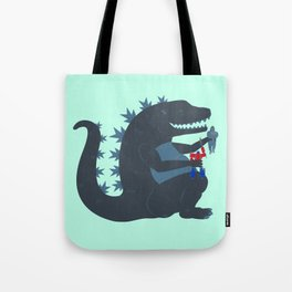 Let's be best friends forever! - Godzilla Tote Bag
