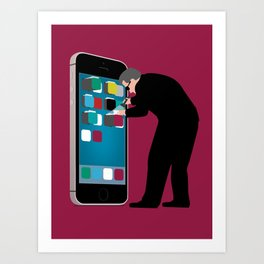 Indiscriminate Collection of U.S. Phone Records Violates the Fourth Amendment Art Print
