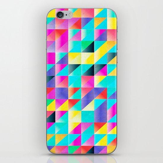 Geometric Neon  iPhone Skin