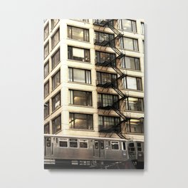 Chicago Fire Escape Metal Print