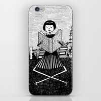 bookworm iPhone & iPod Skins featuring Bookworm by kate gabrielle