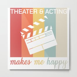 Acting Actor Audition Gift Metal Print