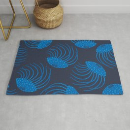 JELLYFISH in BLUE Rug