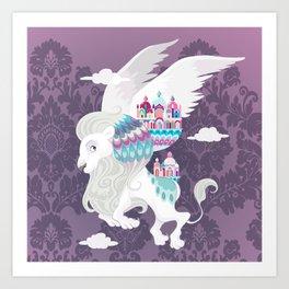 Flying Lion of Venice Art Print