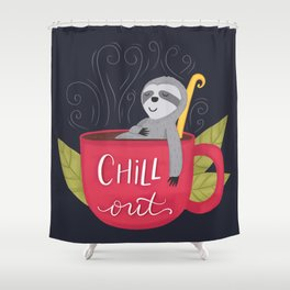 Chill Out Sloth Shower Curtain