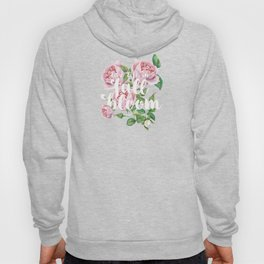 Live life in full bloom - Typography and Rose Watercolor Illustration Hoody