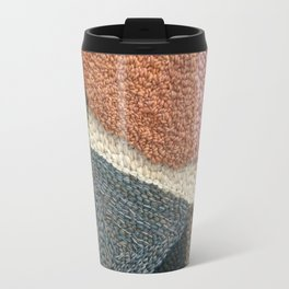 The Straight Path Rug Hooked Artwork Travel Mug