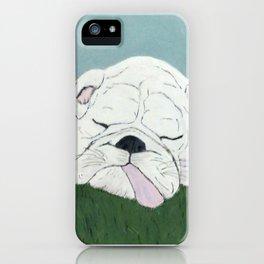 Bulldog Nap iPhone Case