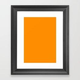 Princeton orange Framed Art Print