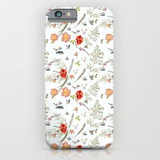 Spring field pattern with poppy and cosmos flowers iPhone 6s Slim Case