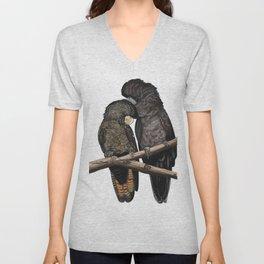 Black Cockatoos Unisex V-Neck