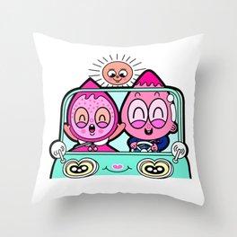 berry girl corn boy Throw Pillow