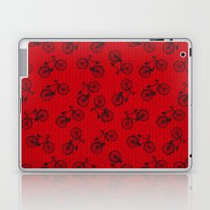 Red Bicycle Pattern Laptop & iPad Skin