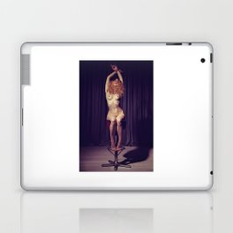 Tied up nude woman on a bar stool Laptop & iPad Skin