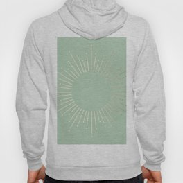 Simply Sunburst in Pastel Cactus Green Hoody