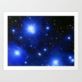 Messier 45 - The Pleiades Star Cluster Art Print