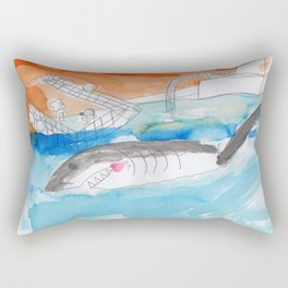 Shark Watch Rectangular Pillow