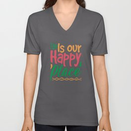 This Is Our Happy Place Unisex V-Neck