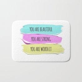 Self Worth Love Bath Mat