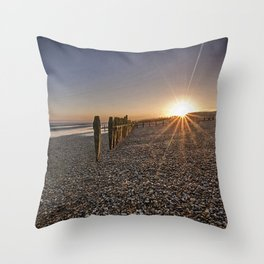 Old Defences Rye Bay Throw Pillow