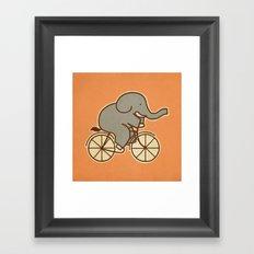 Elephant Cycle Framed Art Print