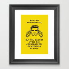 Avoiding reality Framed Art Print