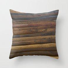 Wooden baseball bats Throw Pillow