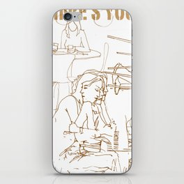 wheres your head iPhone Skin