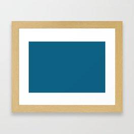 Dunn & Edwards 2019 Curated Colors Blue Velvet (Deep Blue) DET559 Solid Color Framed Art Print