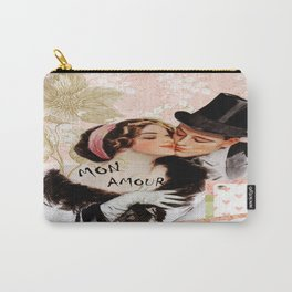 Vintage MON Amour Couple Carry-All Pouch