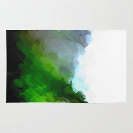Green Dot Paint Rug