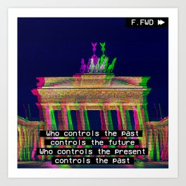 Who is in control? Art Print