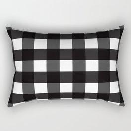 Contemporary Black & White Gingham Pattern Rectangular Pillow