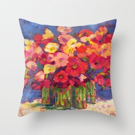 Poppy Party Throw Pillow
