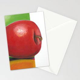 The red apple Stationery Cards