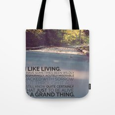I like living - agatha christie Tote Bag