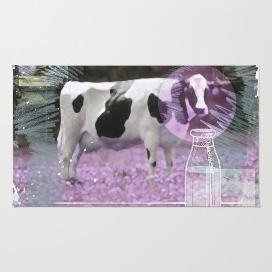 Milk comes from a bottle Rug