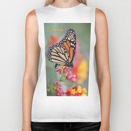 A Monarch on Milkweed Biker Tank