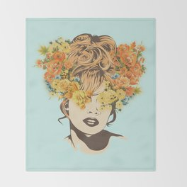 Tropical Lady Throw Blanket