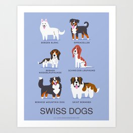 SWISS DOGS Art Print