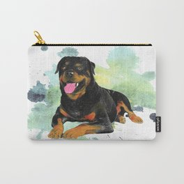 Rottweiler happy Carry-All Pouch