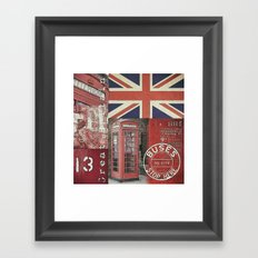 Great Britain London Union Jack England Framed Art Print