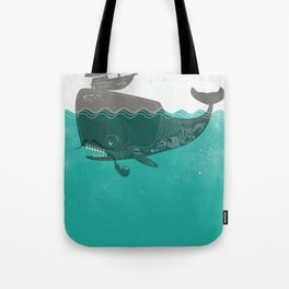 Belly of the Whale - Hipster Edition (with pirates) Tote Bag