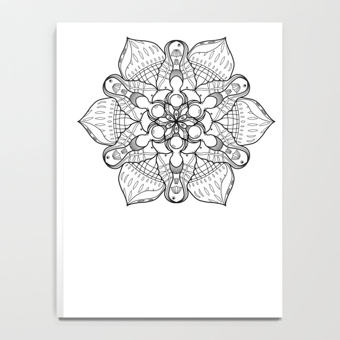 Symmetrical Sea, Lineart Only Notebook